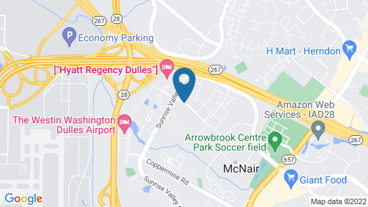Courtyard by Marriott Dulles Airport Herndon Map