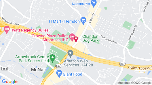 Crowne Plaza Dulles Airport, an IHG Hotel Map