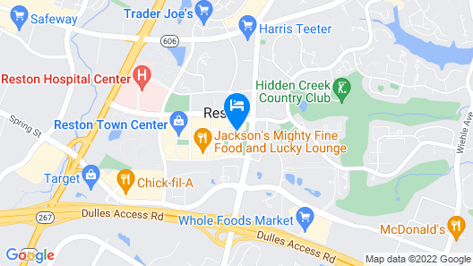 Global Luxury Suites at Reston Town Center Map