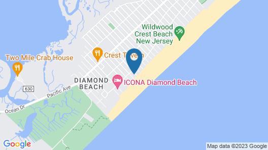 Reges Oceanfront Resort Map