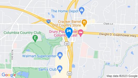 Ramada by Wyndham Columbia Map