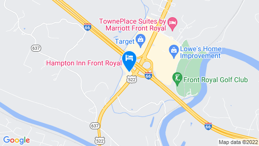 Hampton Inn Front Royal Map
