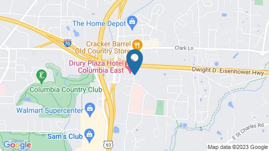 Staybridge Suites Columbia Map
