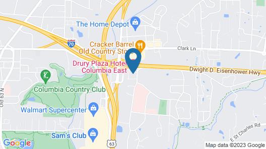 Drury Plaza Hotel Columbia East Map