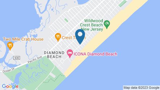 Acacia Beachfront Resort Map