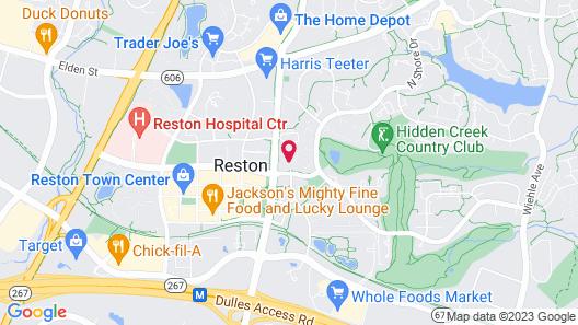 Bluebird Suites in Reston Map