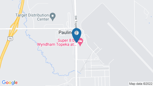 Super 8 by Wyndham Topeka at Forbes Landing Map