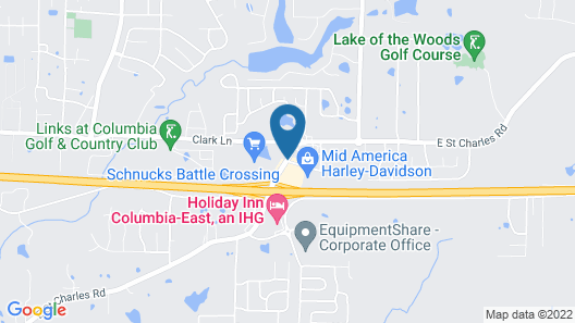 Super 8 by Wyndham Columbia East Map