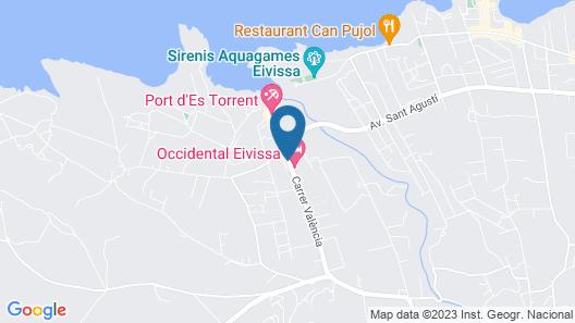 Occidental Ibiza Map