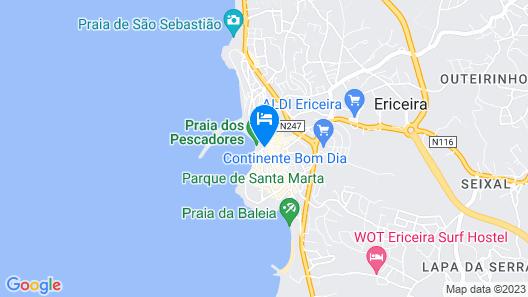Milvus Guesthouse Ericeira - Praia dos Pescadores Map