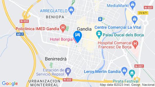 Hotel Borgia Map