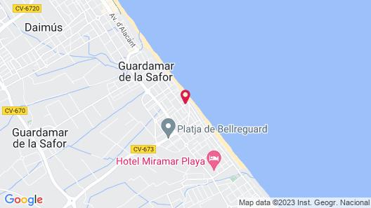 Apartamentos Gandía Bellreguard 3000 Map
