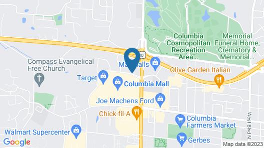 Drury Inn & Suites Columbia Stadium Boulevard Map