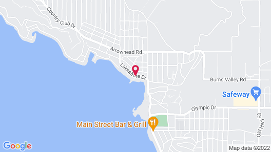 Clear Lake Cottages & Marina Map