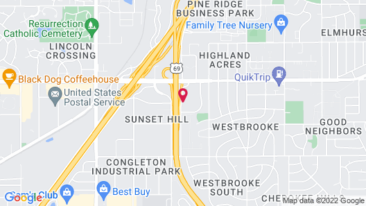 Holiday Inn and Suites Overland Park West, an IHG Hotel Map