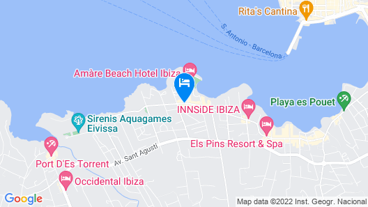Paradiso Ibiza Art Hotel - Adults Only Map