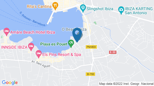 Hotel THB Ocean Beach - Adults Only Map