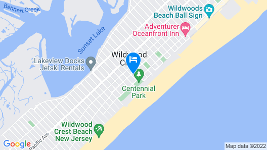 Gold Crest Motel Map
