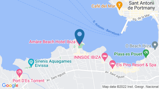 Amàre Beach Hotel Ibiza  Map