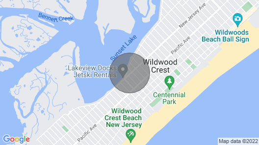 Wildwood Crest Two Bedroom Condo/Townhouse Map