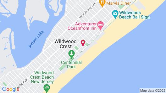 Fleur De Lis Beach Motel Map