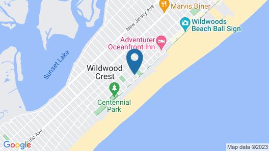 The Crusader Oceanfront Family Resort Map