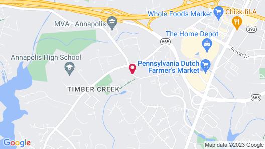 Hilton Garden Inn Annapolis Map