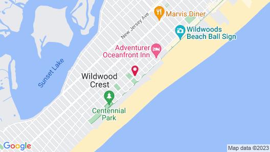 Oceanfront Pan American Hotel Map
