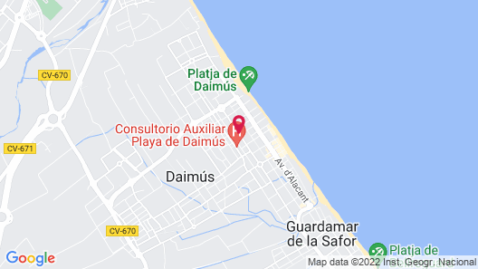 Apartamentos Gandia Daimuz 3000 Map