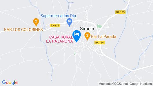 Casa Rural la Pajarona Map