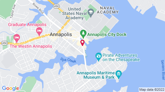 Annapolis Waterfront Hotel, Autograph Collection Map