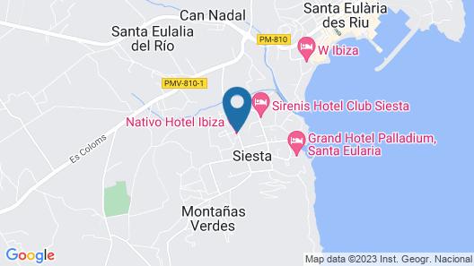 Nativo Hotel Ibiza Map