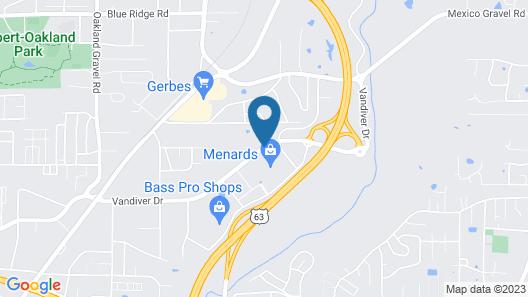 Hilton Garden Inn Columbia Map