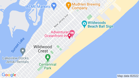 Aqua Beach Hotel Map