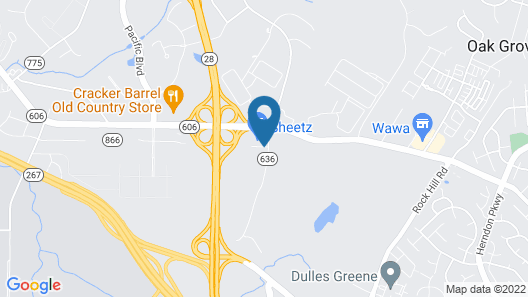 Comfort Inn & Suites Airport Dulles-Gateway Map