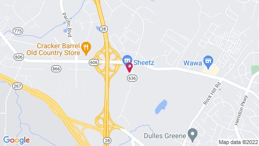 HYATT house Sterling/Dulles Airport-North Map