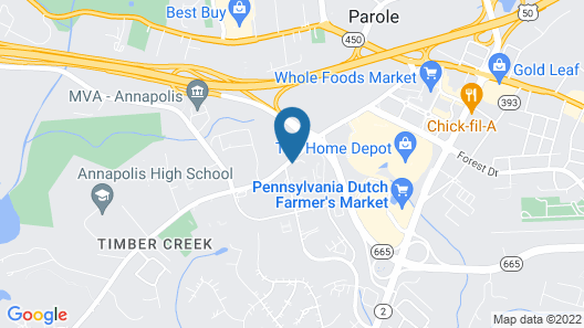 Courtyard by Marriott Annapolis Map