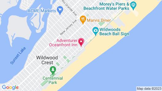 Adventurer Oceanfront Inn Map