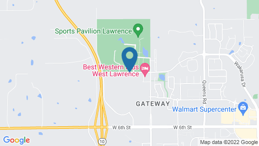 Best Western Plus West Lawrence Map
