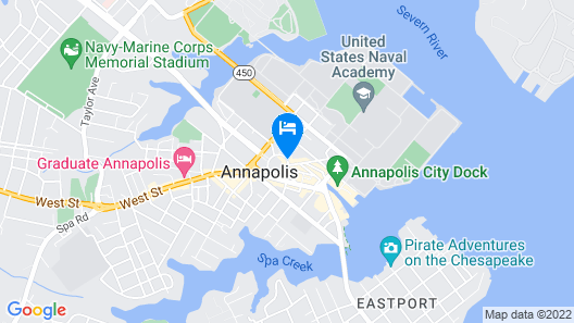 Historic Inns of Annapolis Map