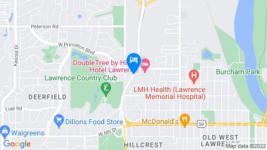 DoubleTree by Hilton Hotel Lawrence Map
