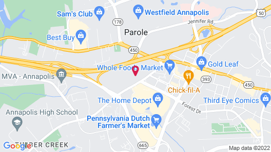 DoubleTree by Hilton Hotel Annapolis Map