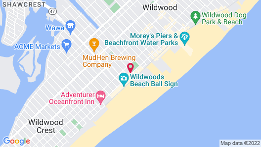 Oceanic Hotel  Map