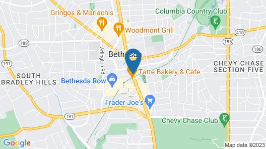 Hilton Garden Inn Bethesda Map