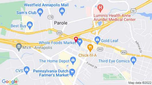 Holiday Inn Express & Suites Annapolis, an IHG Hotel Map