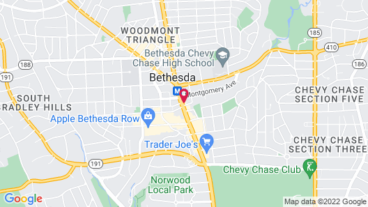 Residence Inn by Marriott Bethesda Downtown Map
