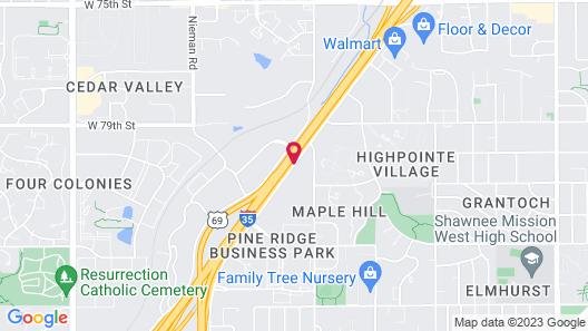 Extended Stay America Kansas City - Lenexa - 87th St. Map