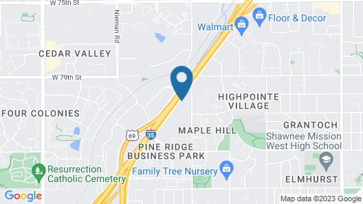 Extended Stay America Suites Kansas City Lenexa 87th St Map