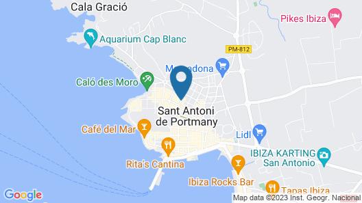 Hostal Sunset Ibiza Map