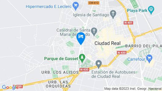 Hotel Sercotel Guadiana Map